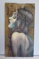 """""""Diane"""", acrylique sur bois, 60 x 32,5 cm"""