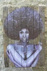 """""""Purple Rain""""acrylique sur bois, 120 x 81 cm"""