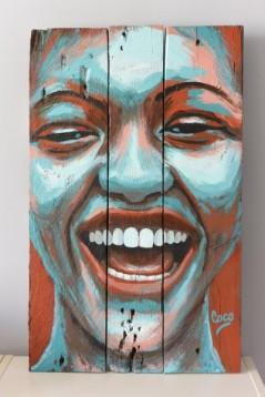"""""""L'Eclat"""", acrylique sur bois, 60 x 38 cm"""