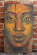 """""""Lion Queen"""", acrylique sur bois, 60 x 35,5 cm"""