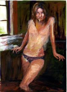 exercice de dessin sur photo représentant une femme
