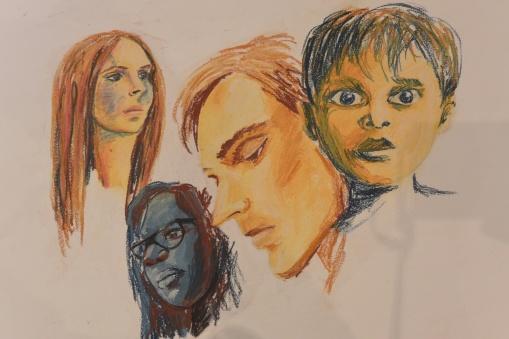 portraits divers au pastel sec