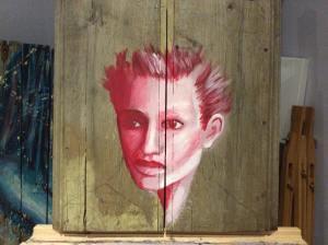 nadia acrylique sur bois