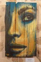 """""""Peine-Ombre"""", acrylique sur bois, 61 x 35 cm"""