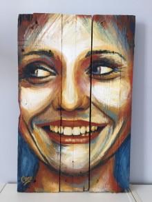 """""""Sunrise"""", acrylique sur bois, 60 x 38 cm"""