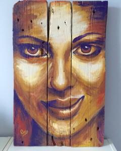 acrylique sur bois