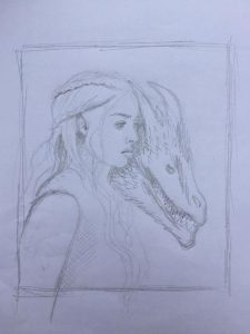 croquis mère des dragons game of throne