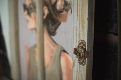 porte de placard tableau solène par coraline van butsele alias coco