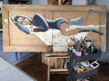 peinture sur bois, coraline van butsele