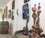 Festival Fine en Bulles exposition d'art et dégustation de champagnes chez les vignerons de Crouttes sur Marne