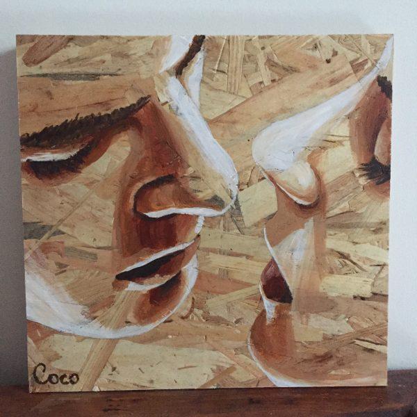 Toi Et Moi Peinture Osb Lesptitsdessinsdecoco Les P Tits Dessins De Coco