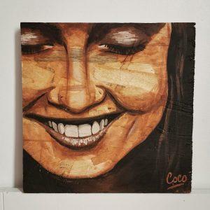 peinture sur osb réalisée par Coraline Van Butsele